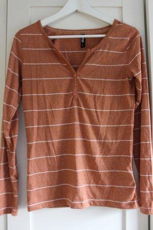 Streifenshirt braun/beige-weiß