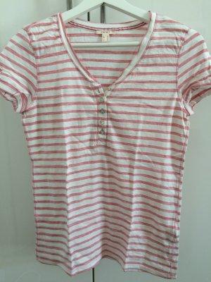 Esprit Gestreept shirt wit-lichtroze