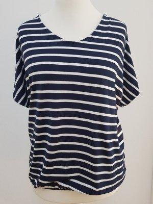 Street One Gestreept shirt wit-donkerblauw