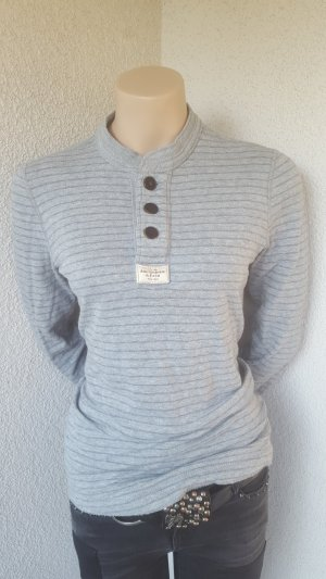 Abercrombie & Fitch Gestreept shirt lichtgrijs