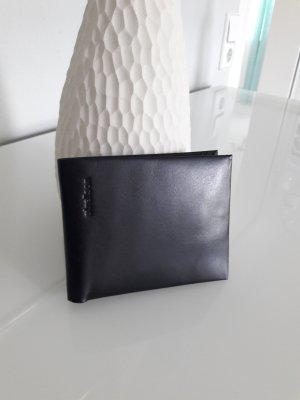 Portefeuille noir cuir