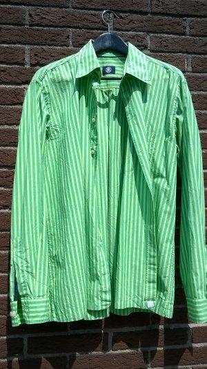 Strellson Hemd grün gestreift