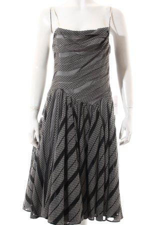 Strenesse A-Linien Kleid schwarz-wollweiß Zackenmuster Elegant