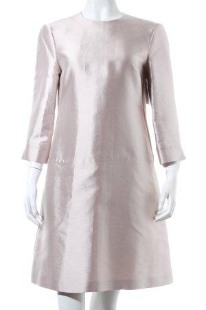 Strenesse A-Linien Kleid silberfarben Metallic-Optik