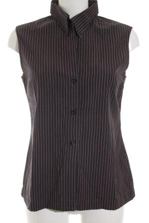 Strenesse ärmellose Bluse braun-weiß Nadelstreifen Casual-Look