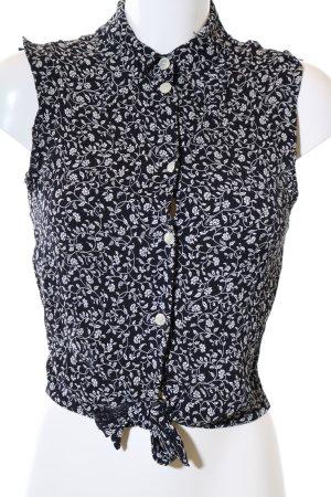 Strenesse ärmellose Bluse schwarz-weiß Allover-Druck Casual-Look