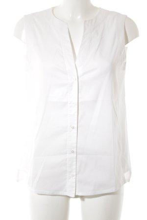 Strenesse ärmellose Bluse weiß klassischer Stil