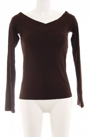Strenesse Basic Top bordeauxrot Street-Fashion-Look