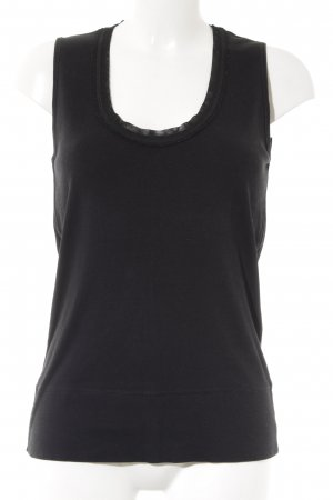Strenesse Basic Top schwarz Casual-Look