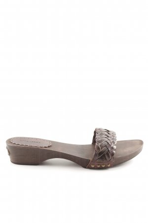 Strenesse Blue Heel Pantolettes brown classic style