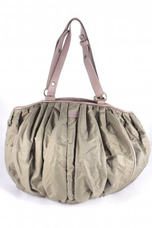 Strenesse Blue Pouch Bag olive green-light brown street-fashion look