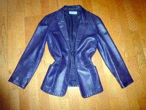 STRENESSE BLUE Blauer Lammnappaleder-Blazer 36