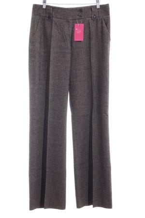 Strenesse Blue Pantalone a pieghe marrone-grigio puntinato Stile Brit