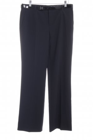 Strenesse Blue Bundfaltenhose schwarz Business-Look