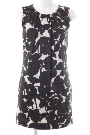 Strenesse Blue Etuikleid schwarz-weiß abstraktes Muster Elegant
