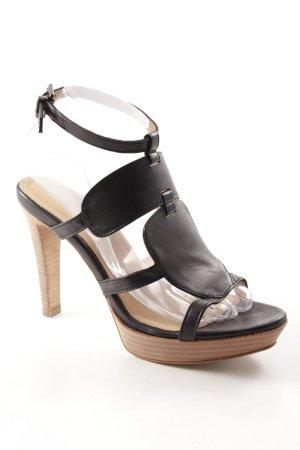 Strenesse Blue High Heel Sandaletten schwarz Street-Fashion-Look