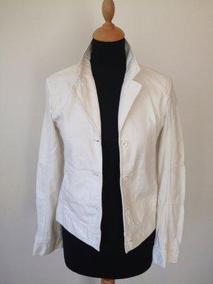 Strenesse Blue Jacke seitlich Taschen Revers Baumwolle Sommer edel Luxus