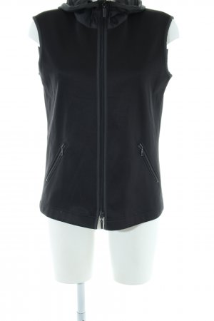 Strenesse Blue Hooded Vest black casual look