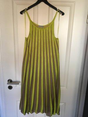 Strenesse Blue Kleid plissiert neon/beige