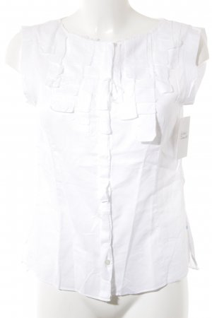 Strenesse Blue Kurzarm-Bluse weiß Elegant
