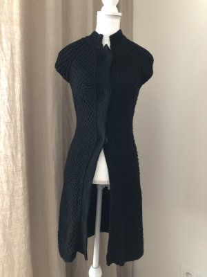 Blue Strenesse Short Sleeve Knitted Jacket black new wool