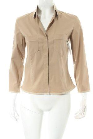 Strenesse Blue Langarm-Bluse beige schlichter Stil
