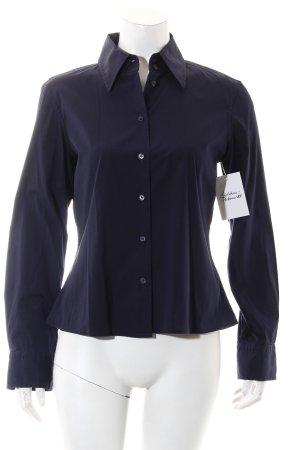 Strenesse Blue Langarm-Bluse dunkelblau klassischer Stil