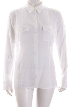 Strenesse Blue Langarm-Bluse weiß klassischer Stil