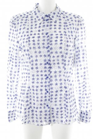 Strenesse Blue Chemise à manches longues blanc-bleu Motif d'étoiles