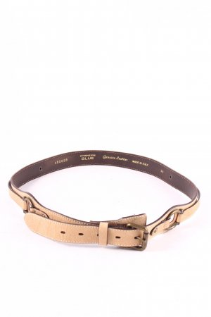 Strenesse Blue Leather Belt light brown casual look