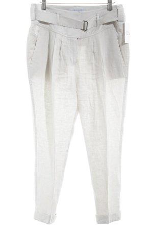 Strenesse Blue Pantalón de lino gris claro look casual