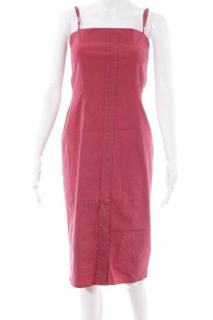 Strenesse Blue Midi-jurk baksteenrood klassieke stijl