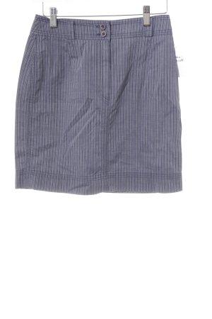 Strenesse Blue Miniskirt steel blue-white striped pattern casual look