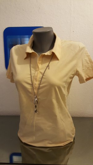Blue Strenesse Polo Shirt pale yellow
