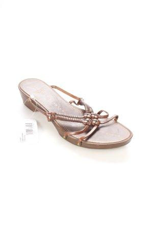 Strenesse Blue Riemchen-Sandalen dunkelbraun-bronzefarben Nieten-Detail