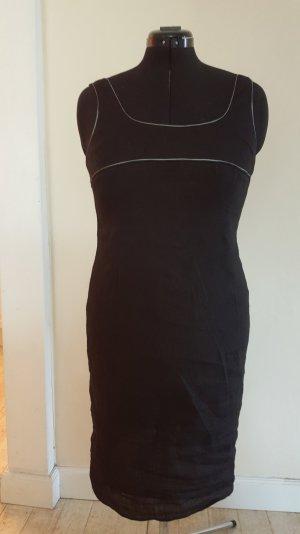 Strenesse blue, schwarzes figurbetontes Kleid aus dünnem Leinen