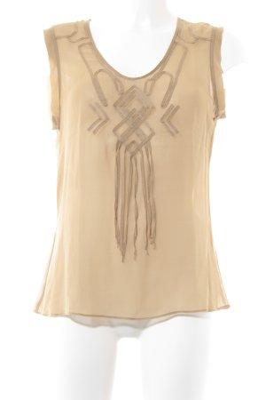 Strenesse Blue Haut en soie chameau style transparent