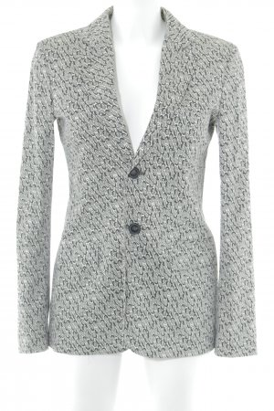Strenesse Blue Tuxedo Blazer anthracite-natural white abstract pattern elegant