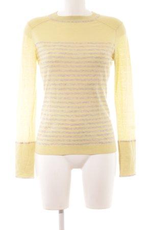 Strenesse Blue Maglione lavorato a maglia giallo pallido-grigio chiaro