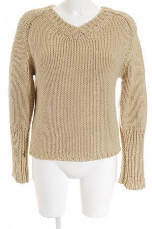 Strenesse Blue Strickpullover creme Lochstrickmuster Casual-Look