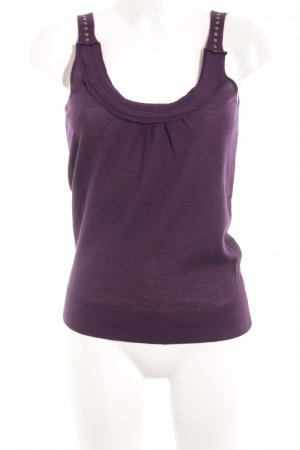 Strenesse Blue Knitted Top dark violet casual look
