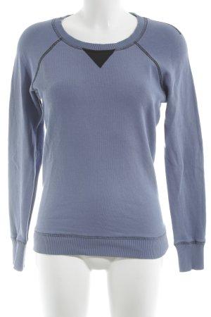 Strenesse Blue Sweatshirt stahlblau-schwarz Casual-Look