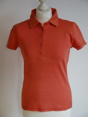 Strenesse Polo shirt donker oranje Katoen