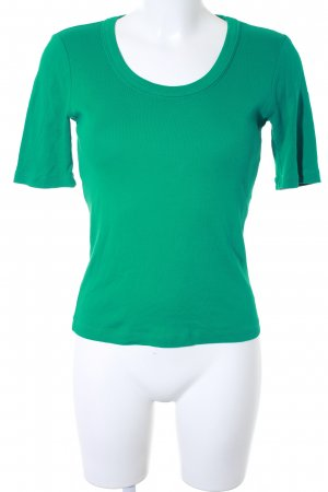 Strenesse Blue T-Shirt cadet blue-forest green casual look