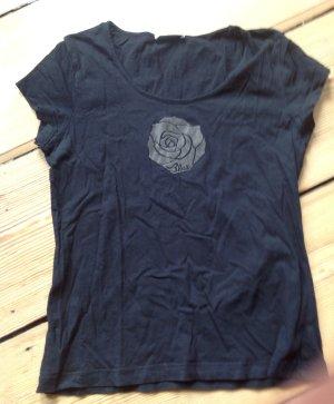 Strenesse Blue T-Shirt mit Rose Gr. L