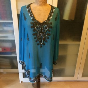 Blue Strenesse Tunic Blouse neon blue