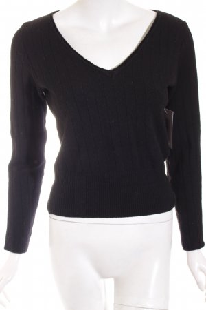 Strenesse Blue V-Ausschnitt-Pullover schwarz Casual-Look