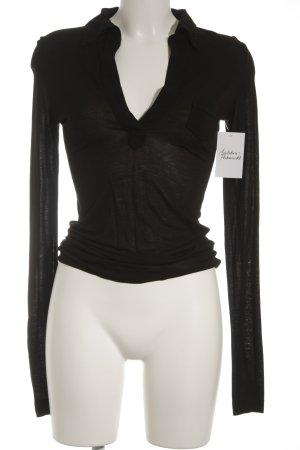 Strenesse Blue V-Ausschnitt-Pullover schwarz schlichter Stil