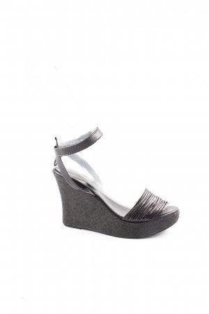 Strenesse Blue Wedge Sandals black street-fashion look