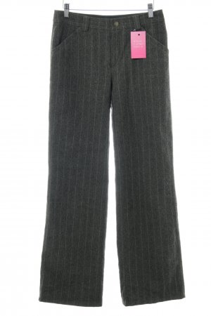 Strenesse Blue Pantalon en laine gris brun style extravagant
